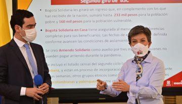 Alcaldesa de Bogotá anuncia segundo giro de ayudas