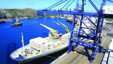 9,8% cayó la carga movilizada por los puertos del país